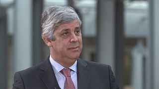 """Mário Centeno sobre a zona euro: """"Temos de avançar passo a passo"""""""