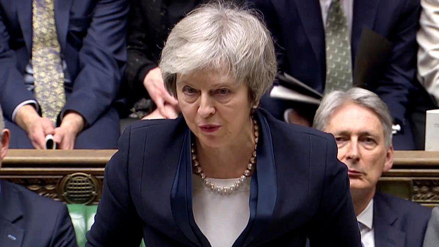 Theresa May während der Abstimmung im Parlament.