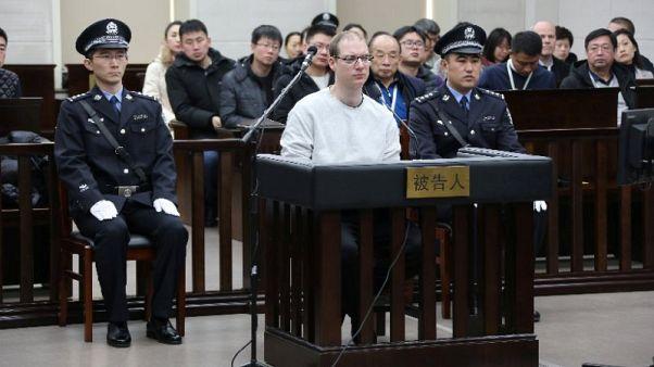Robert Lloyd Schellenberg im Gerichtssaal in Dalian