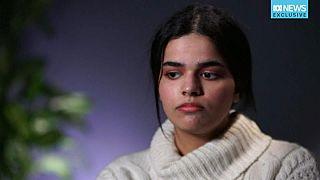 الفتاة السعودية رهف القنون في مقابلة صحفية بعد لجوئها إلى  كندا