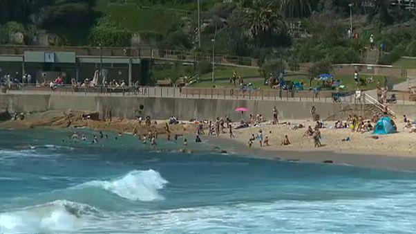 Tombol a hőség Ausztráliában