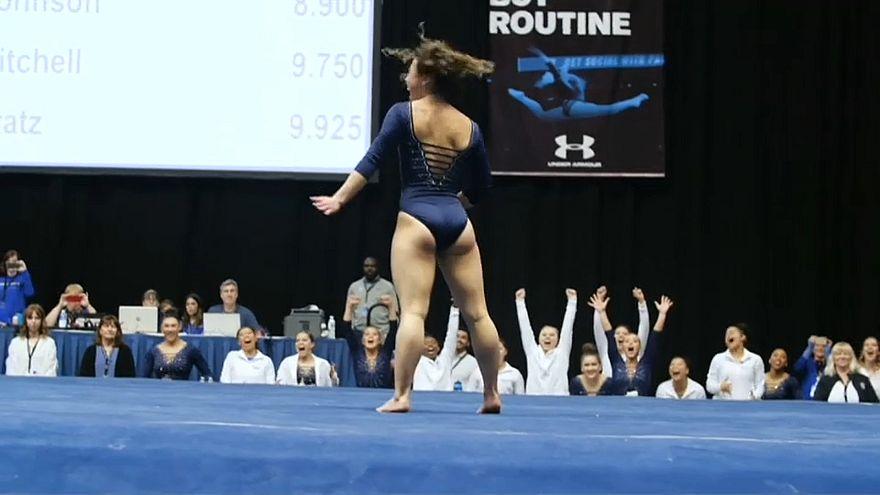 Nota 10 para ginasta americana