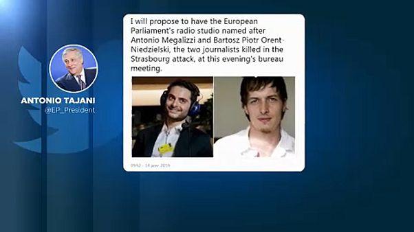 El Parlamento Europeo homenajea a los dos periodistas asesinados
