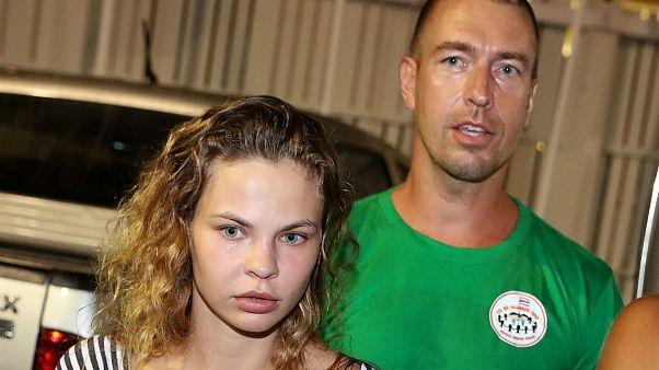 Anastasia Vashukevich e Alexander Kirillov em Pattaya, na Tailândia