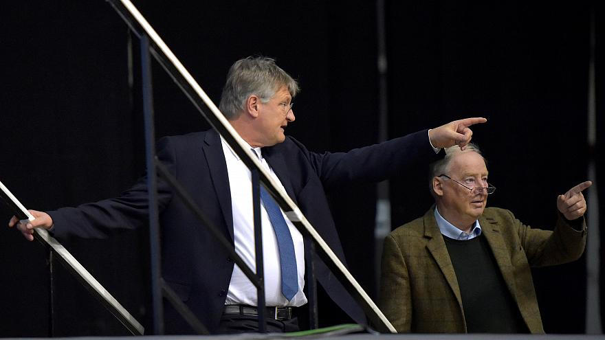 Alexander Gauland and Jörg Meuthen in Riesa