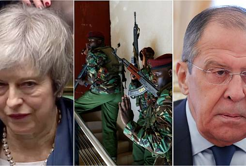 Live updates: May's Brexit defeat; Kenya attack; and Lavrov speech