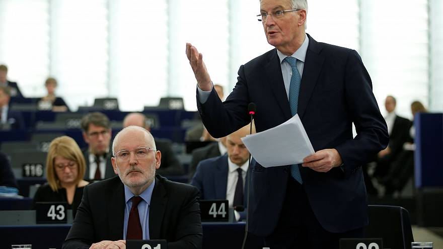 Michel Barnier no Parlamento Europeu