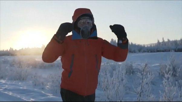 Minus 60 Grad: Wohltätigkeitslauf durch Eiseskälte