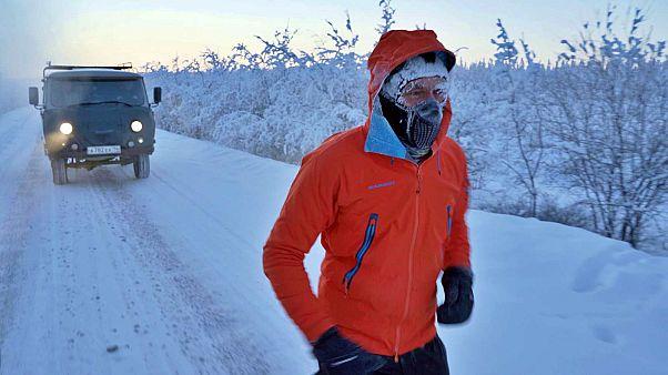 Questo atleta moldavo ha corso per 50km a -60°C