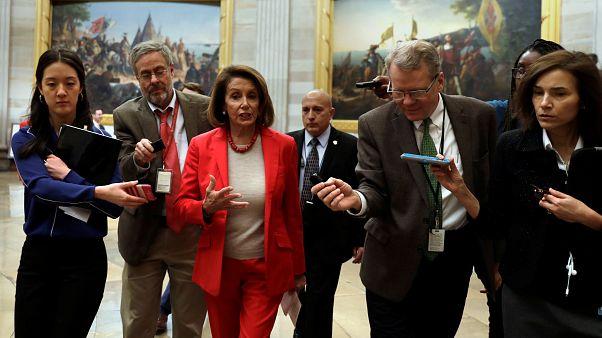 رهبران حزب دموکرات آمریکا از ترامپ خواستند به کنگره نرود
