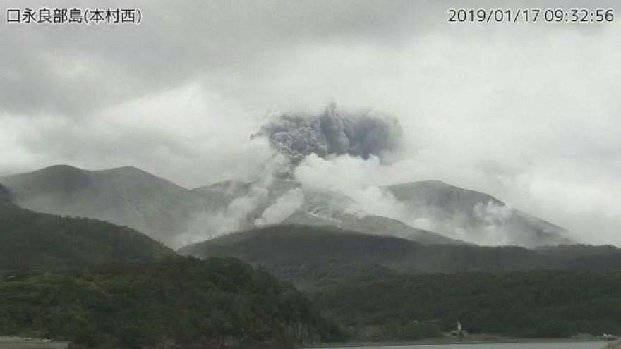 Eruption volcanique au Japon