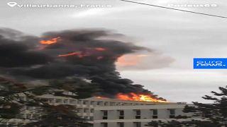 شاهد: انفجار قوي في جامعة في ليون الفرنسية سببته أسطوانات غاز