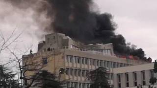 Incendio all'università di Lione per lo scoppio di tre bombole di gas