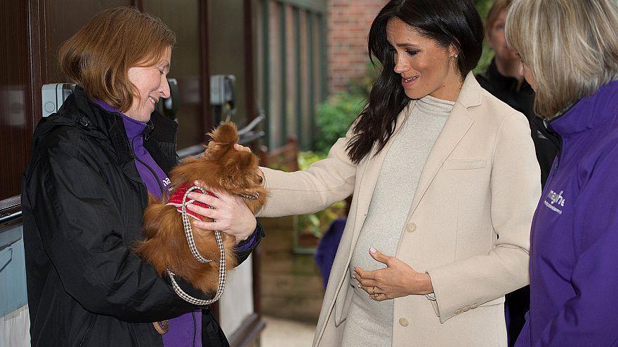 """ميغان تضحك من وصفها """"بالسيدة البدينة"""" أثناء زيارة مؤسسة خيرية"""