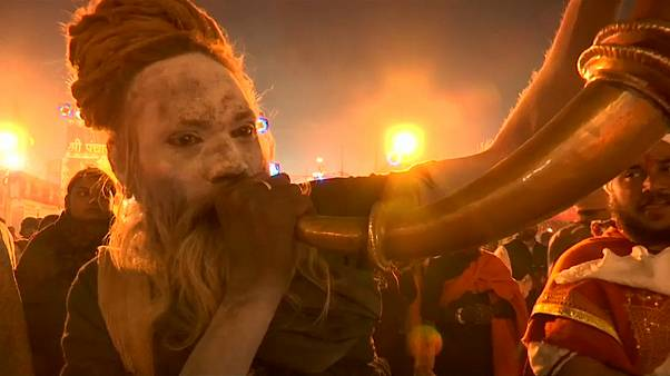Ash-smeared holy men attend India's Kumbh Mela