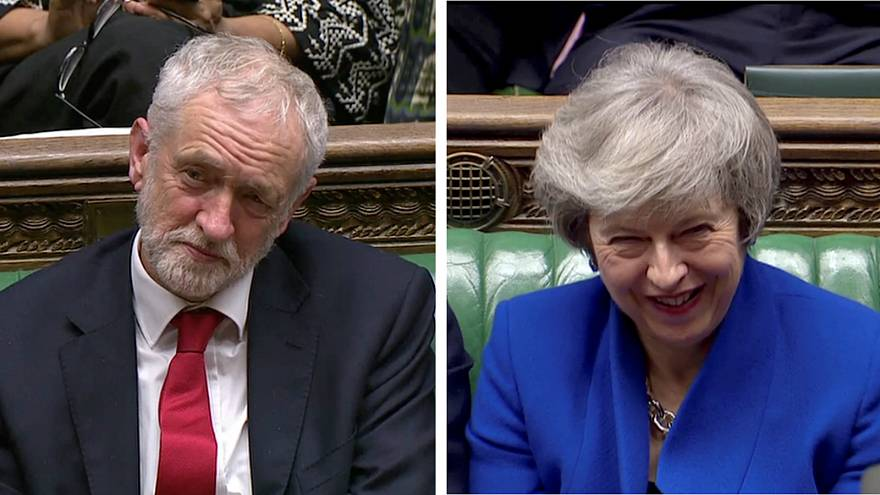 Parliament's war of written words: May and Corbyn face off in letters