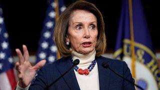 Nancy Pelosi bei einer Rede in Washington