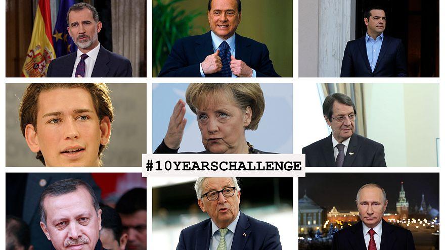 #10yearchallenge: Erdoğan, Trump, Merkel...10 yılda liderler ne kadar değişti?