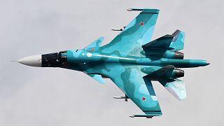 Összeütközött a levegőben két orosz Szu-34-es vadászbombázó