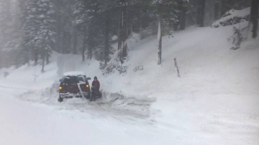 'Zero visibility' as winter storm creates white-out conditions in Sierra Nevada