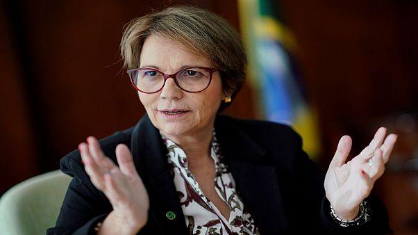 وزيرة الزراعة البرازيلية  تيريزا كريستينا دياز