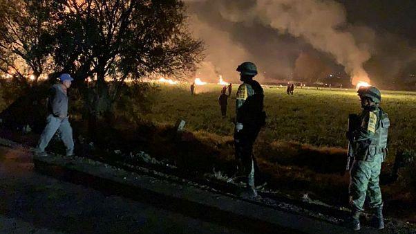 آتشسوزی مرگبار بر اثر سرقت از خط لوله نفت در مکزیک