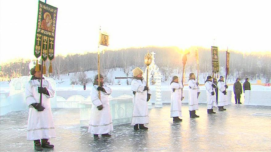 La Iglesia ortodoxa rusa celebra la Epifanía