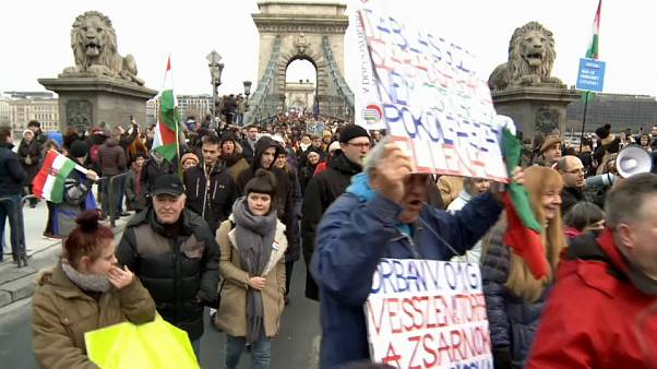 Thousands protest in Budapest against government's labour reforms