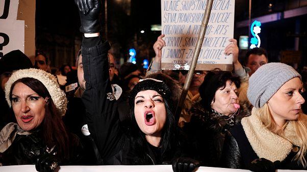 Βελιγράδι: Νέα διαδήλωση κατά του Βούτσιτς
