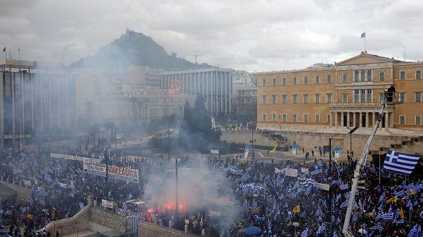 Τραυματίες στο συλλαλητήριο για τη Συμφωνία των Πρεσπών