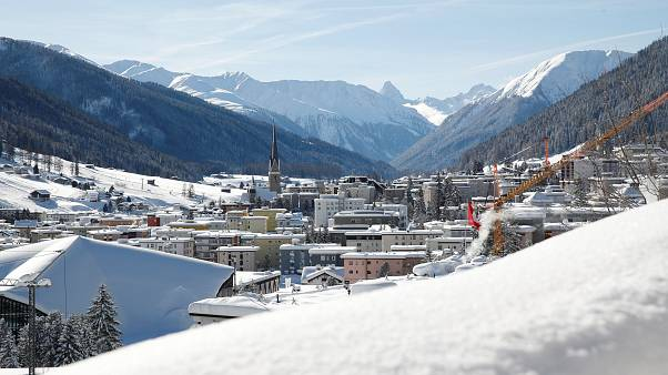 A general view shows the mountain resort of Davos