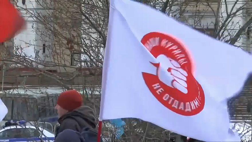 Kurilen-Demo in Moskau