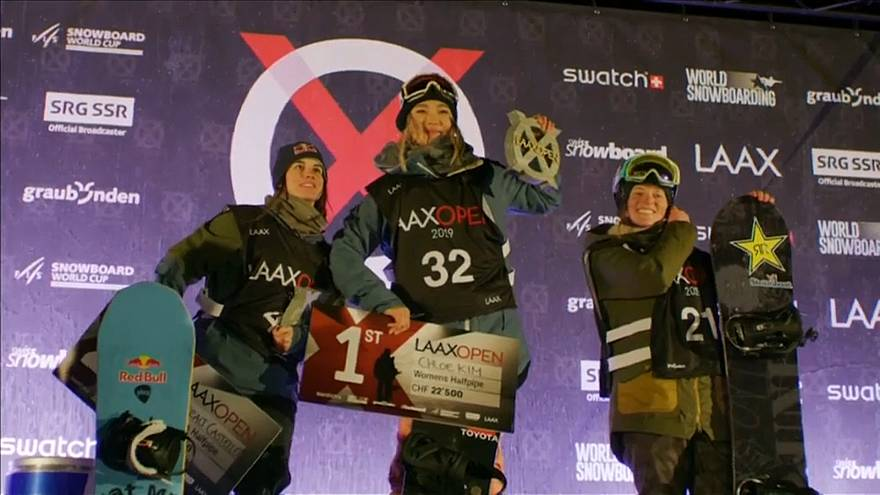 Half-pipe : Kim et James enchantent Laax