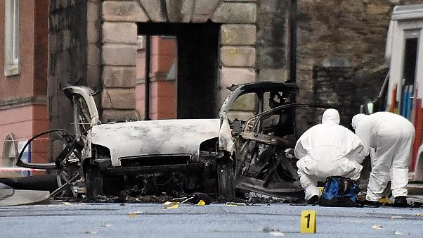 Two arrested over Derry blast