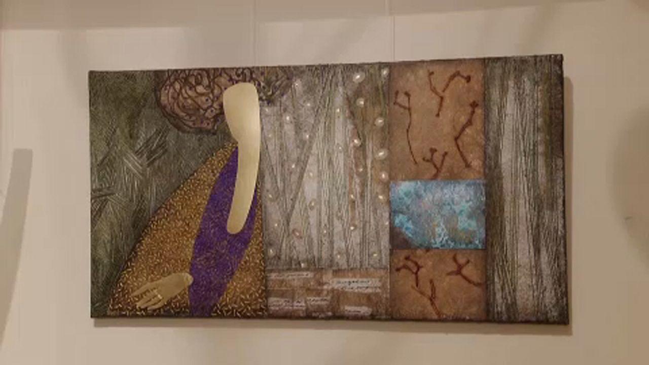 Una artista ucraniana convierte dinero en collages