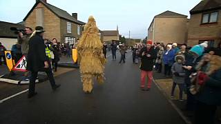 Straw Bear festival still going strong in central England