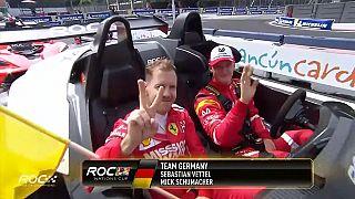 """Race of Champions: Mick Schumacher batte """"il maestro"""" Vettel"""