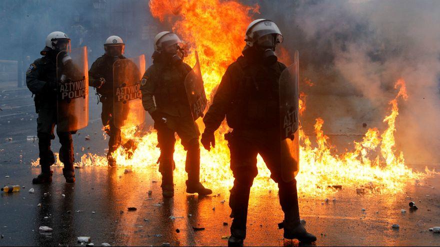 درگیری شدید پلیس یونان با مخالفان تغییر نام مقدونیه در آتن