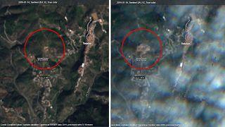Obras de excavación visibles desde el espacio