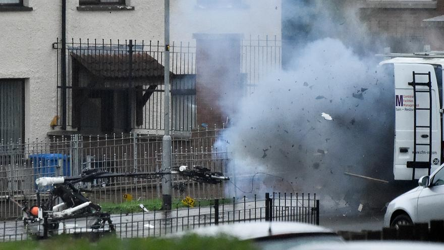 Police in Northern Ireland respond to three security alerts after weekend of violence