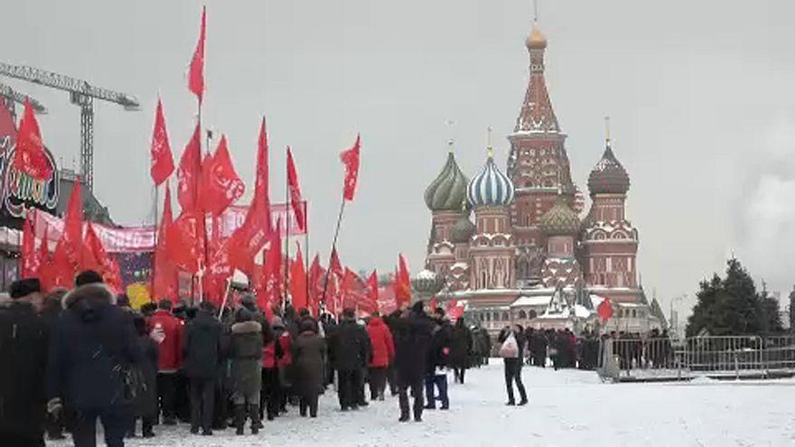 شاهد: الشيوعيون في روسيا يحيون الذكرى الـ95 لرحيل لينين