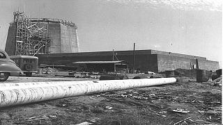 مفاعل سوريك النووي الإسرائيلي وهو قيد الإنشاء 1960