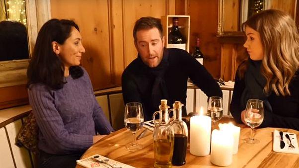 Isabelle Kumar, Darren McCaffrey and Sasha Vakulina at Davos