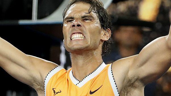 """Y Nadal """"se preparó""""... el tenista español pasa a las semifinales del Open de Australia"""