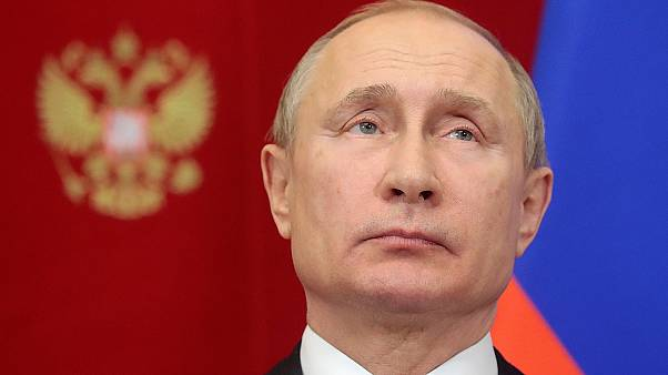 Russian president Vladimir Putin attends an event in Moscow.