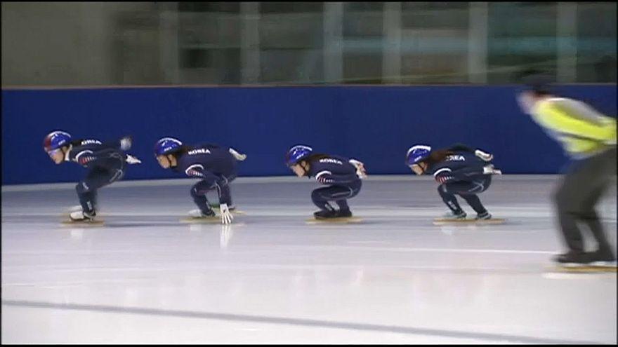 Südkoreanische Eisschnellläuferinnen
