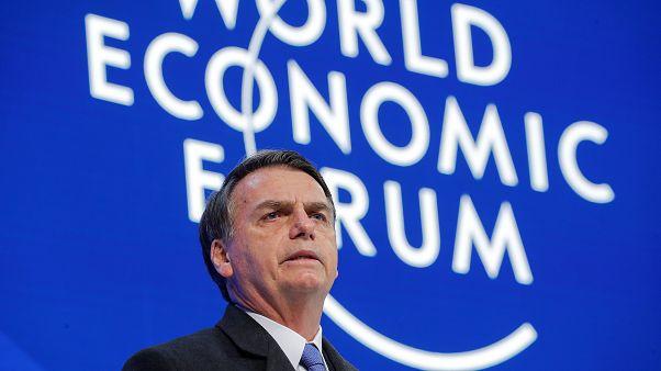 "Bolsonaro presenta en Davos su ""nuevo Brasil"""