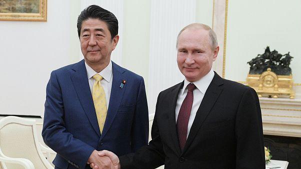 Japonya Başbakanı Şinzo Abe / Rusya lideri Vladimir Putin
