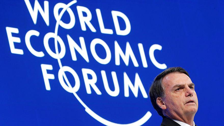 Au programme de la première journée à Davos 2019 : climat et Bolsonaro
