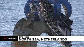 Major salvage operation after ship loses hundreds of containers